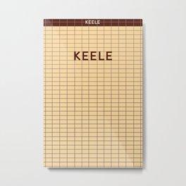 KEELE | Subway Station Metal Print