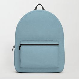 Cheap Solid Pale Baby Blue Color Backpack