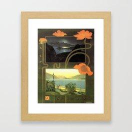 Vintage poster - Lago di Como Framed Art Print