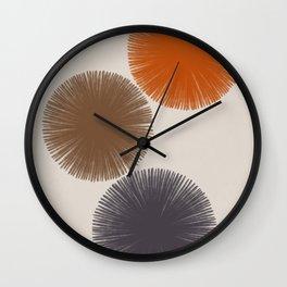 Abstract Circles III Wall Clock