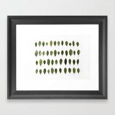 LEAVES COLLECTION Framed Art Print