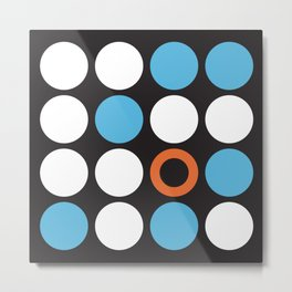 Modern Abstract Dots Metal Print