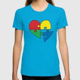 Autism Heart Puzzle T-shirt