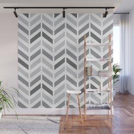 Chevron Grey Small Pattern Wall Mural