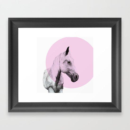 speckled horse Framed Art Print