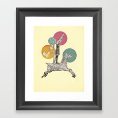 Runaway Horse Framed Art Print