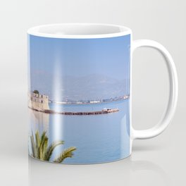The castle of Bourtzi in the bay of Nafplio, Greece  Coffee Mug