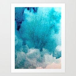 Rest: a minimal, blue abstract piece Art Print
