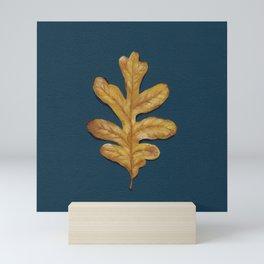 Fall Oak Leaf Painting Mini Art Print