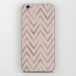 Mauve pink faux rose gold modern geometrical iPhone Skin
