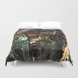 Chicago City Skyline Duvet Cover