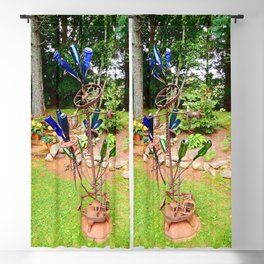 Glass and Steel Garden Art Blackout Curtain