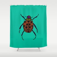 beetle Shower Curtains featuring Beetle by 28BC