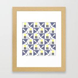"Koloman (Kolo) Moser ""Textile pattern (Flowers and birds)"" Framed Art Print"