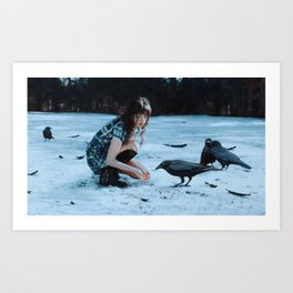 playful omens Art Print