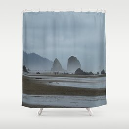 Haystack Rock on Cannon Beach Shower Curtain