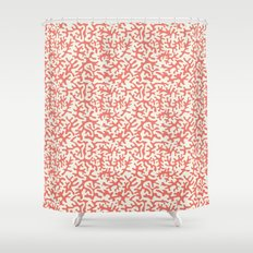 coral pink coral pattern Shower Curtain