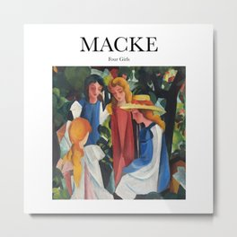Macke - Four Girls Metal Print
