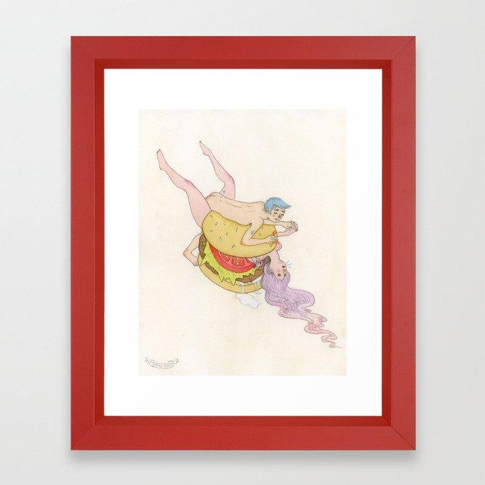 Burger Love Framed Art Print