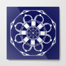 Jefferson Mandala 0001 Metal Print