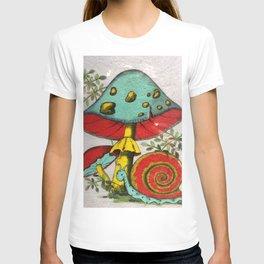 Snail and mushrooms T-shirt