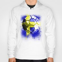 sweden Hoodies featuring football Sweden  by seb mcnulty