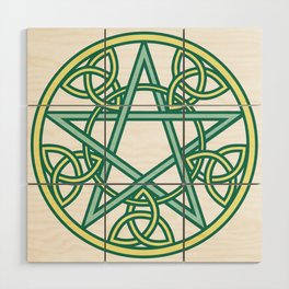 Celtic Pentacle Wood Wall Art