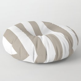 Stone Terrace grey - solid color - white vertical lines pattern Floor Pillow