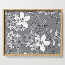 Flowers wall paper 3 Serving Tray