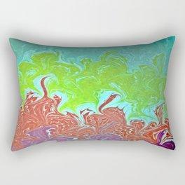 Rainbow Wing Water Marbling Rectangular Pillow