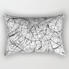 Moscow White Map Rectangular Pillow