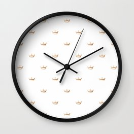 Gold Crown pattern Wall Clock