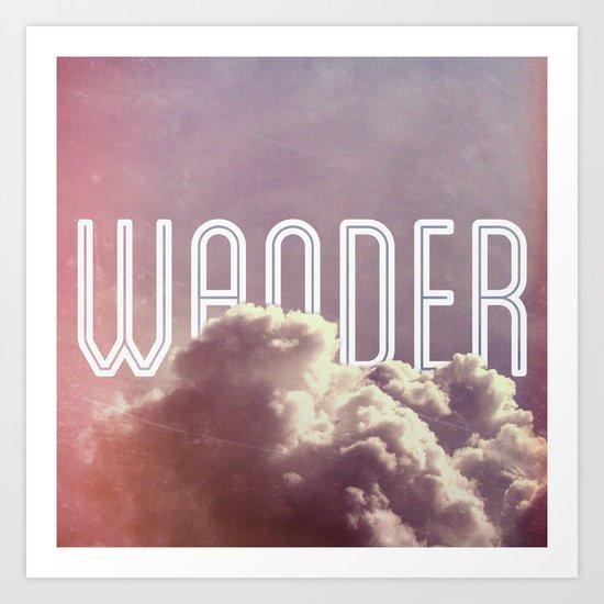 Wander (square) Art Print