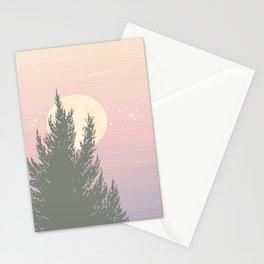 Evening Moonrise Stationery Cards