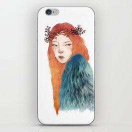 Berries Crown Girl iPhone Skin