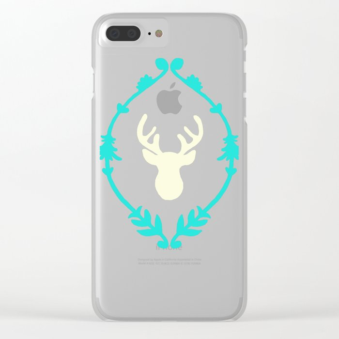 Oh Deer (white) Clear iPhone Case
