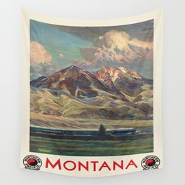 Vintage poster - Montana Wall Tapestry