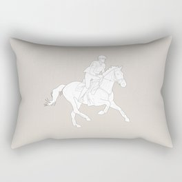 Eventing in brown Rectangular Pillow
