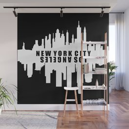 New York City / Los Angeles Skyline Wall Mural