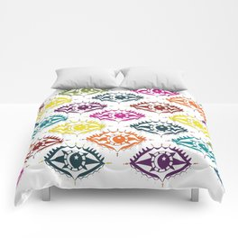 """I see you"" orient eye pattern Comforters"
