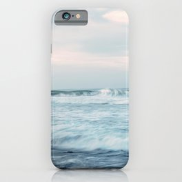 TIME LAPSE PHOTOGRAPHY OF OCEAN WAVE iPhone Case