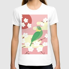 Little Bird on a Plum Tree T-shirt