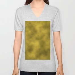 Gold Foil Smooth Metal Texture Festive / Christmas Unisex V-Neck