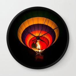 Night hot air balloon adventure Wall Clock