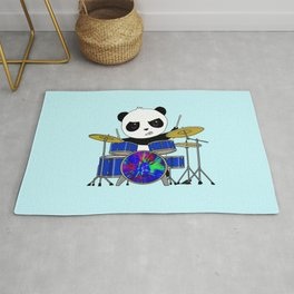 A Drumming Panda Rug