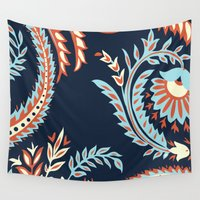 flora Wall Tapestries featuring Flora by Tracie Andrews