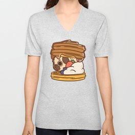Puglie Waffles Unisex V-Neck