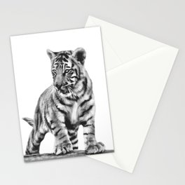 Baby tiger cub pose Stationery Cards