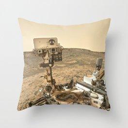 NASA Curiosity — Dust Storm Selfie Throw Pillow