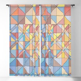 Triangle Pattern no.16 Pastels Blackout Curtain